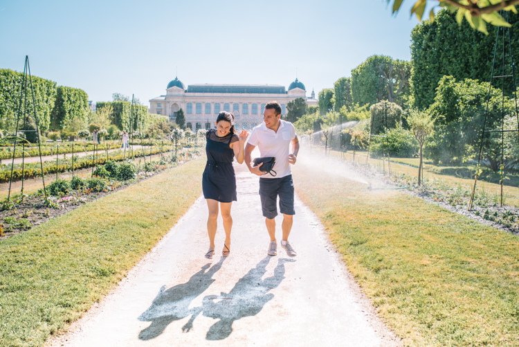 Photos couple à Paris Jardin des Plantes
