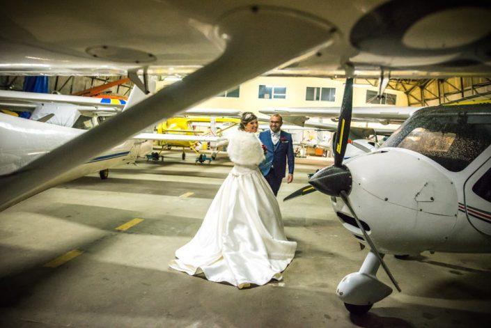 Mariage en hiver - Aérodrome - Oise