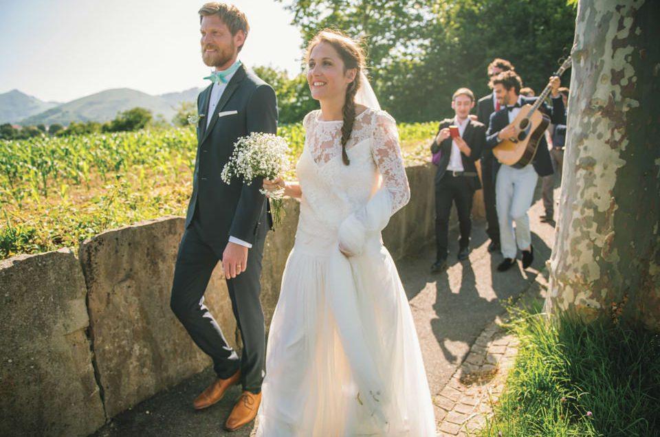 Mariage bohème chic sur la plage Pays Basque