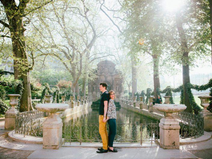 Séance photo couple – Jardin du Luxembourg