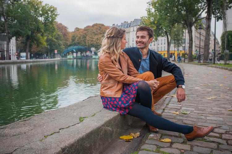 Séance engagement à Paris Canal Saint Martin
