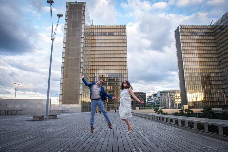 Séance photo couple - Soleil couchant - Paris