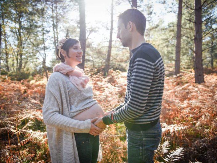 Séance photo grossesse – Fôret de Fontainebleau